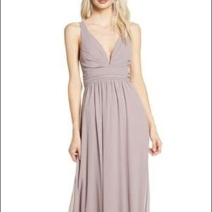 Lulu's A-Aline Chiffon Gown Dress